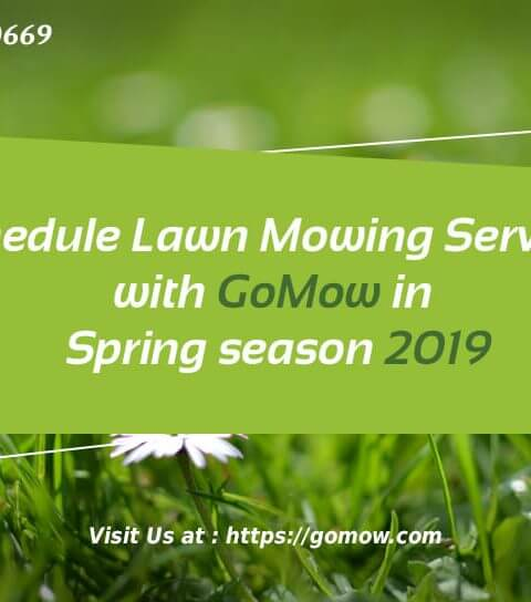 Schedule Lawn Mowing Services with GoMow in Spring season 2019
