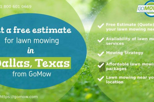 Get a free estimate for lawn mowing in Dallas, Texas from GoMow