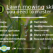 10 lawn mowing skills you need to master