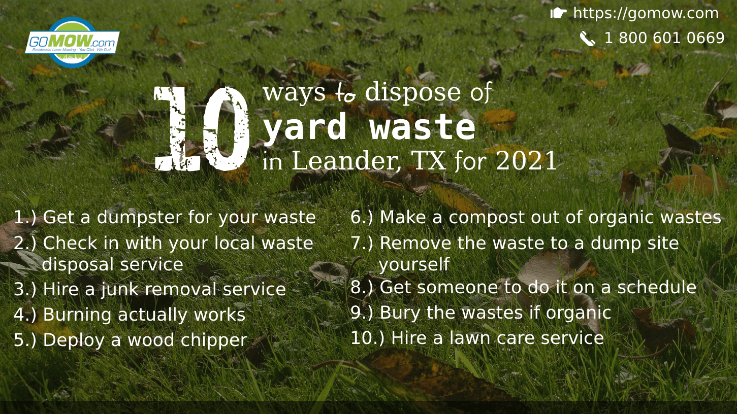 10 ways to dispose of yard waste in Leander, TX for 2021-min